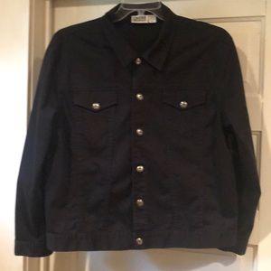 Chico's Design Black Twill Jean Jacket 2